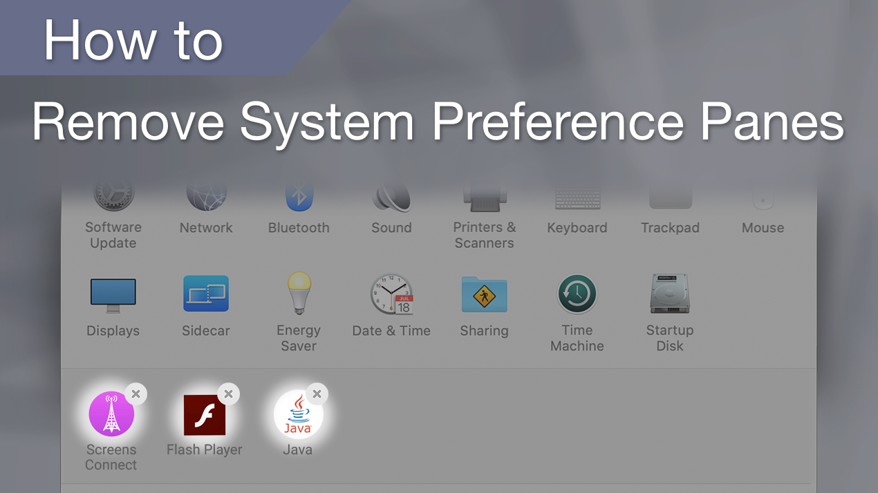 How to delete preference panes on Mac