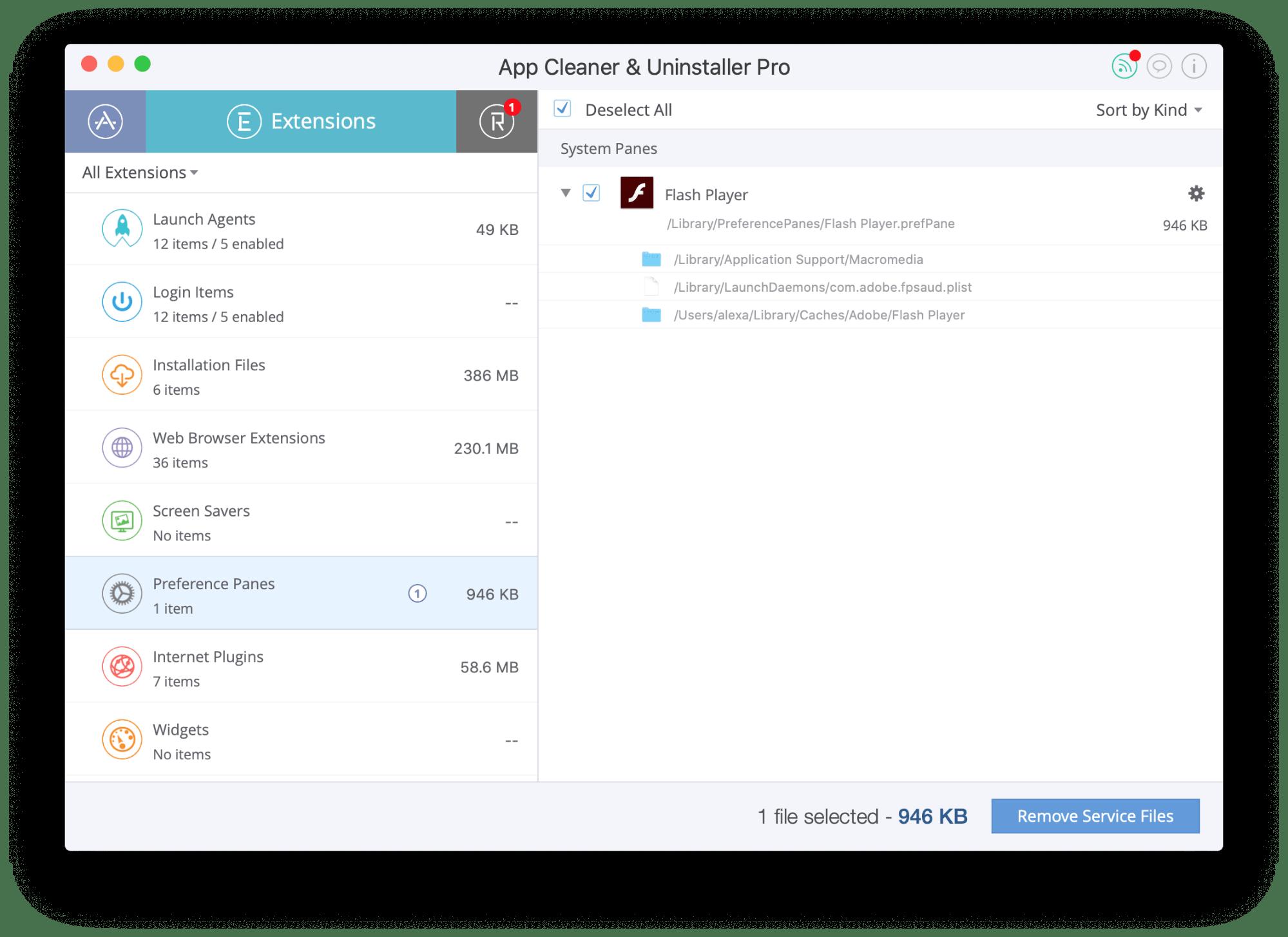 delete system preferences mac