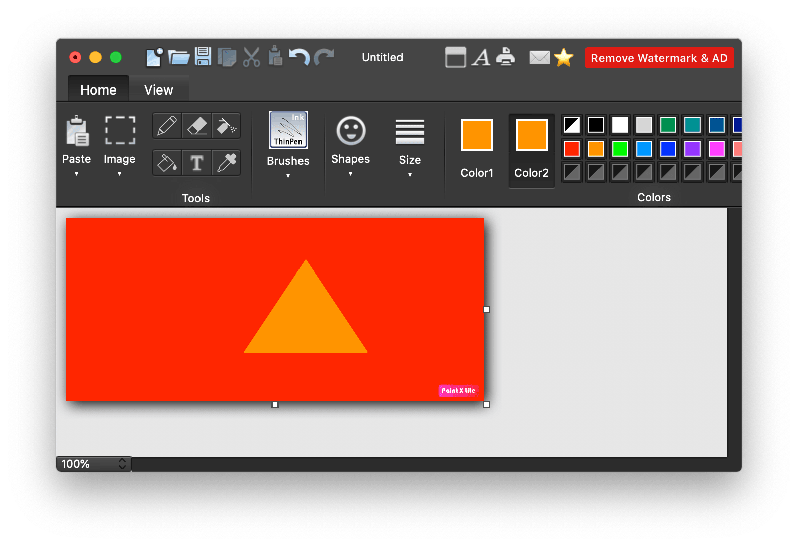 Paint X application window