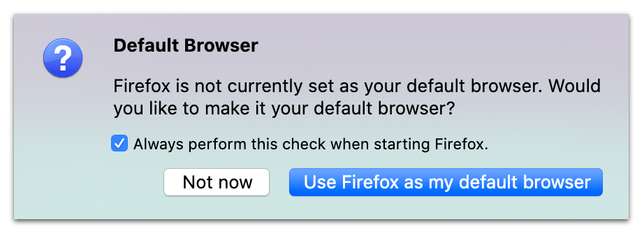 browser's settings mac