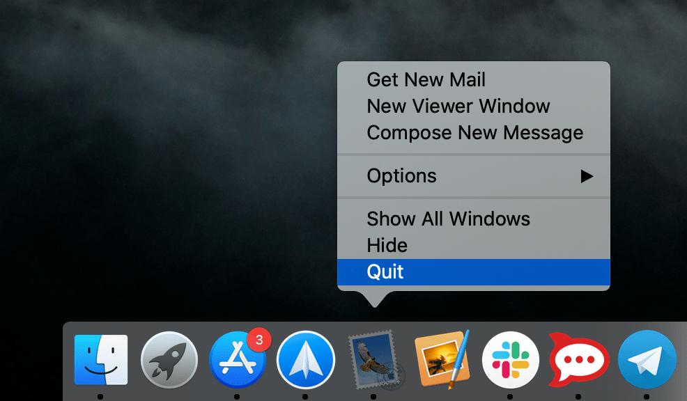 apple mail index rebuilding