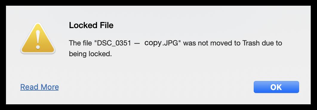 locked files mac