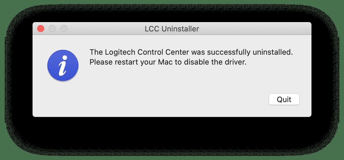 how to remove logitech control center mac