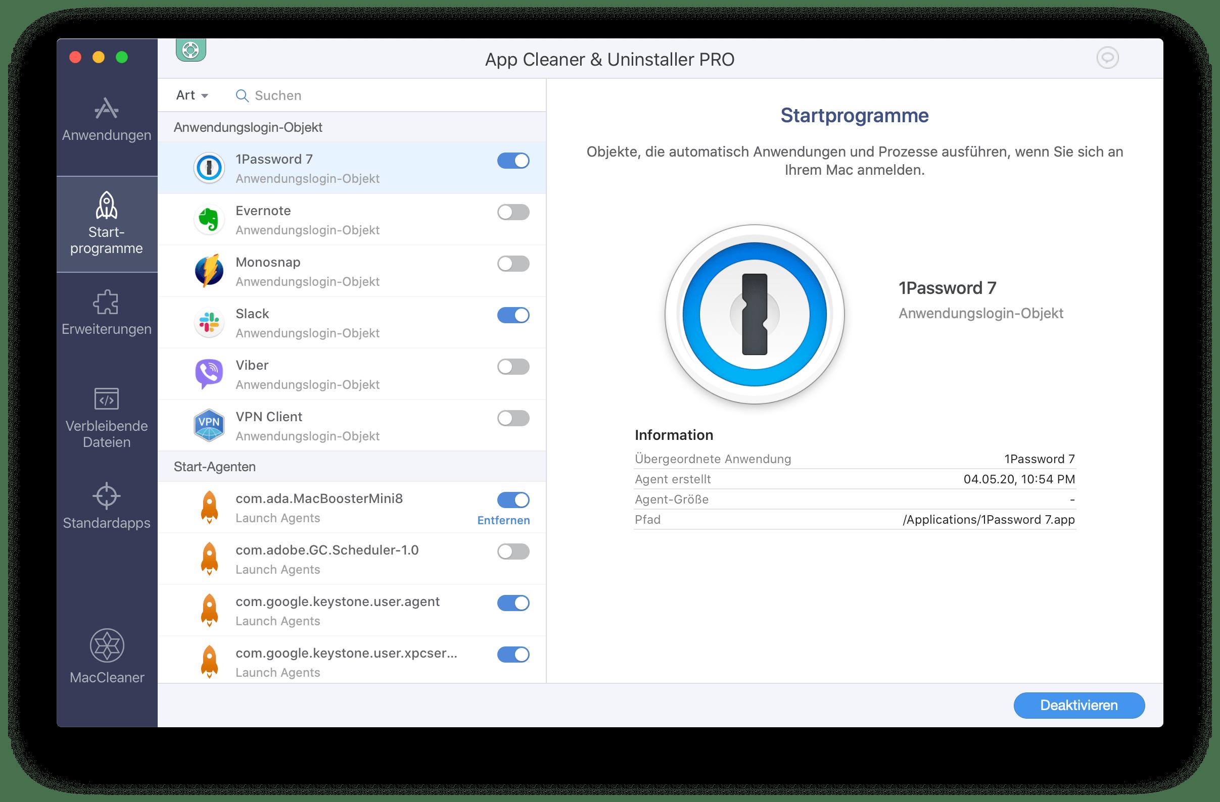 programme auf mac deinstallieren