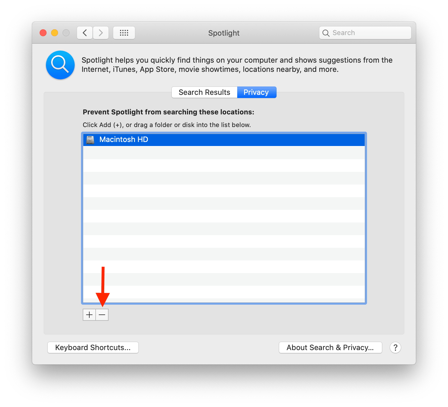 spotlight search is not working on your mac