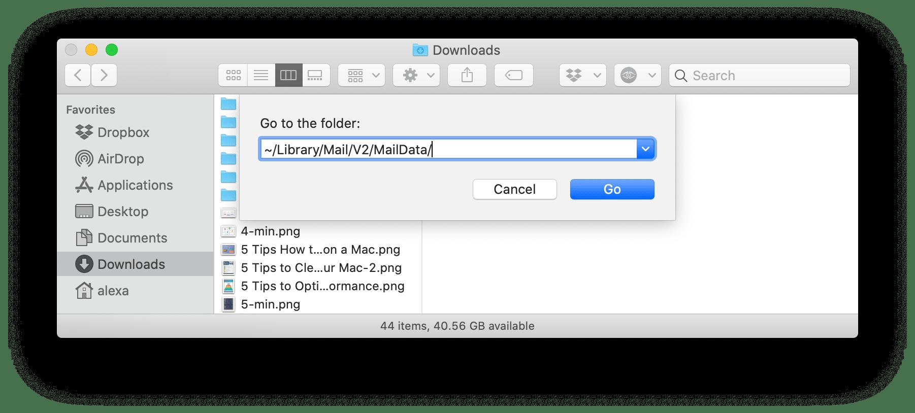 rebuild apple mail database