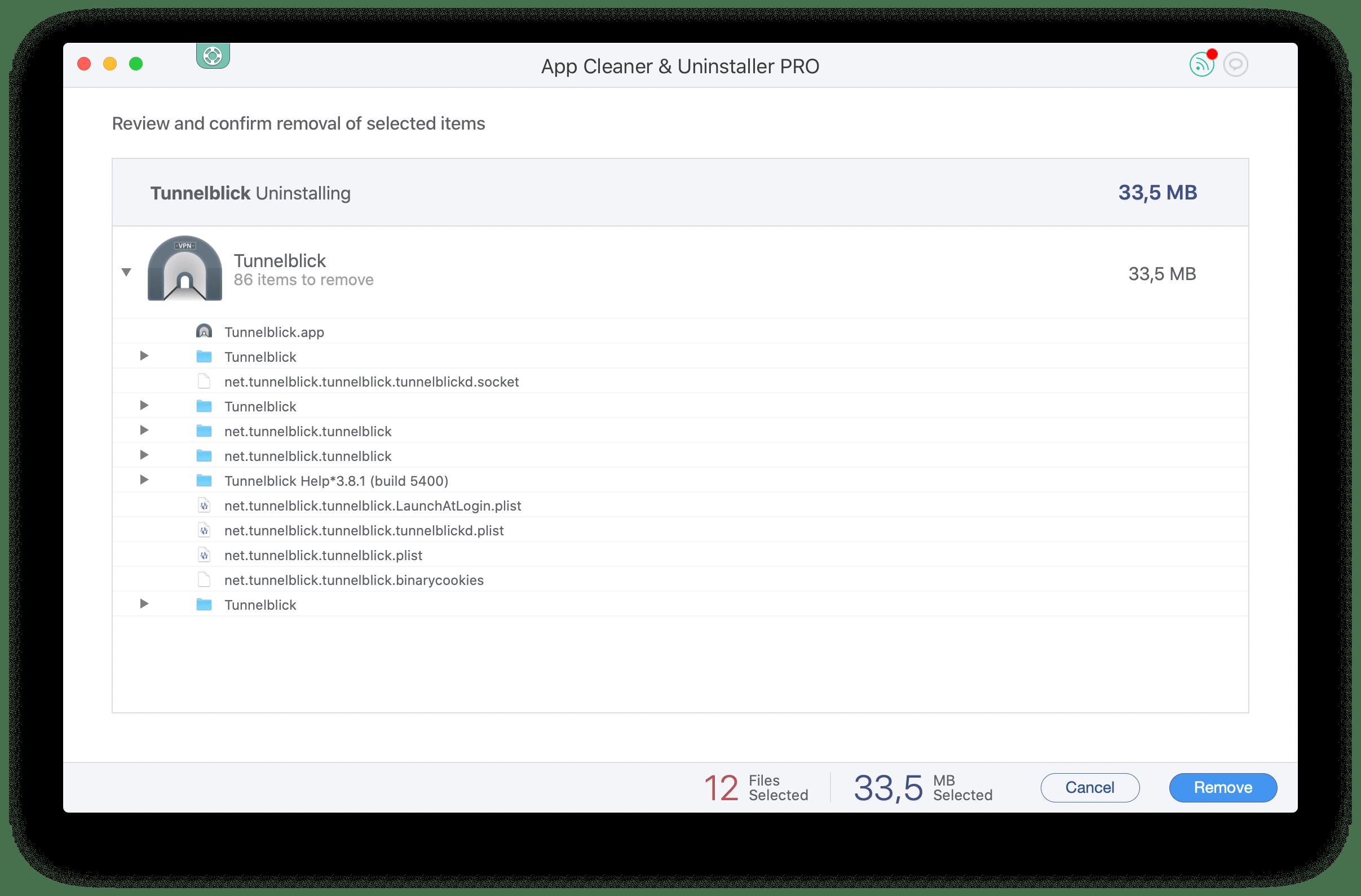 how to uninstall tunnelblick on mac