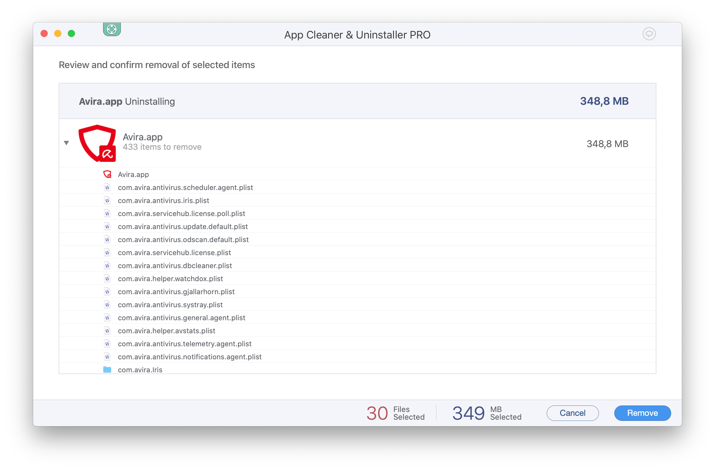 delete avira from mac