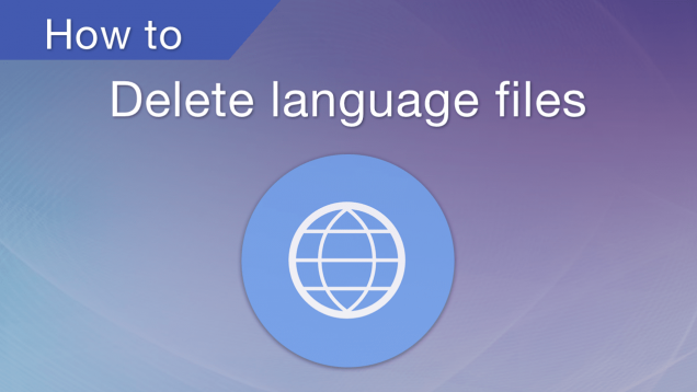how to delete languages files on mac