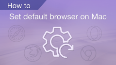 How to set default browser on Mac