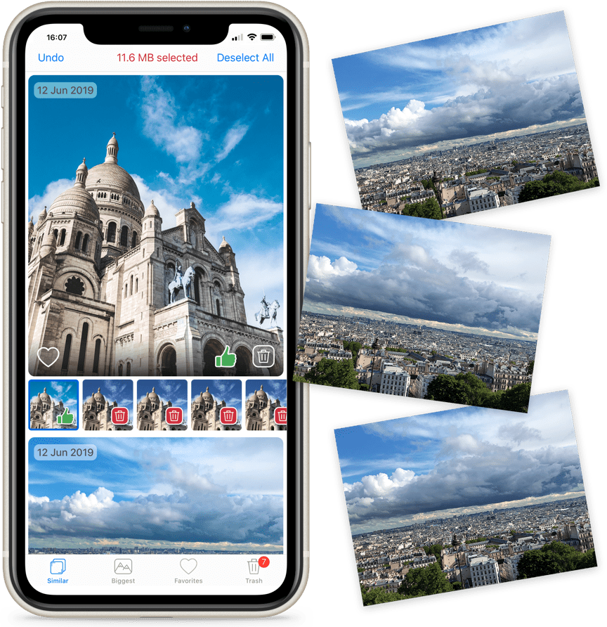 remove duplicate photos iphone