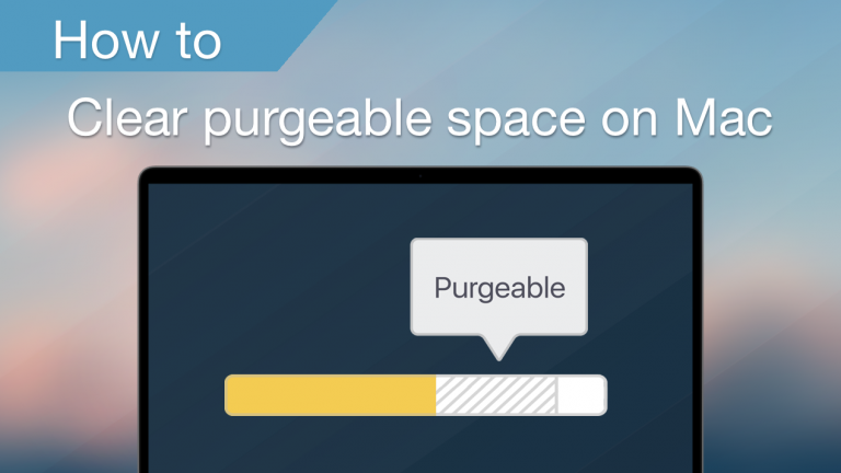 How to clear purgeable space on Mac