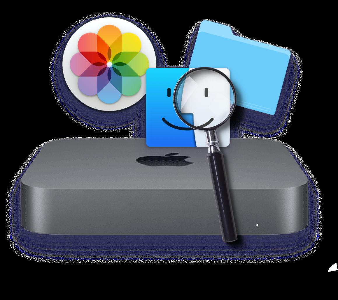 Apple Mac mini magnifier