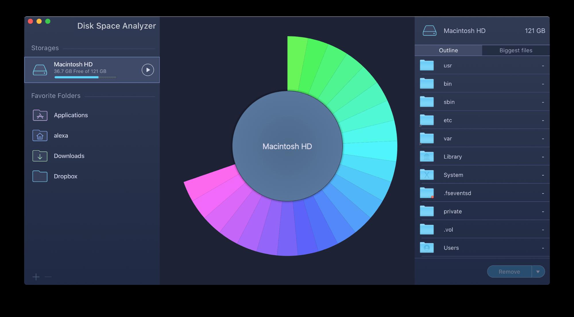 disk space analyzer app