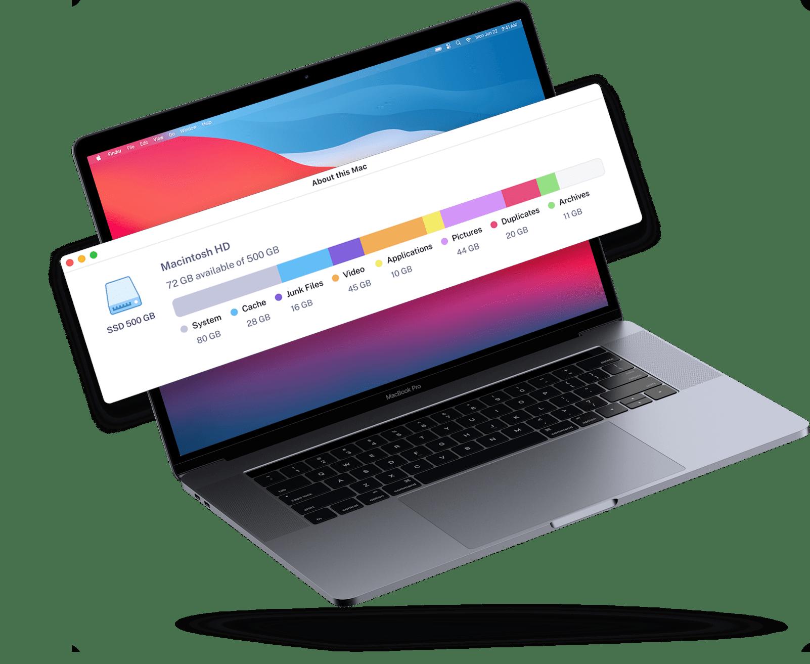 Macbook Pro storage panel