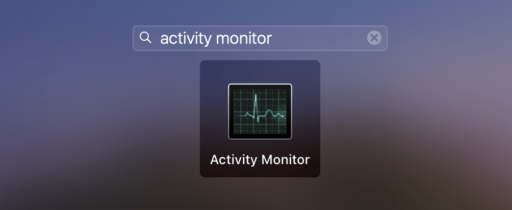 Launchpad showing Activity Monitor