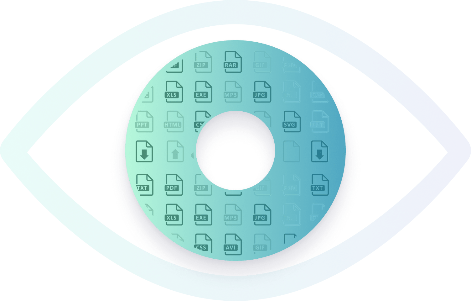 Eye picture illustrating hidden files
