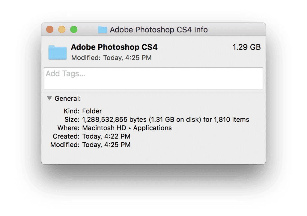 Adobe Photoshop CS4 info