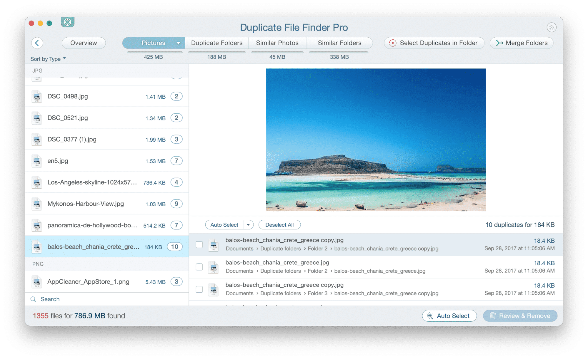 Duplicate File Finder window