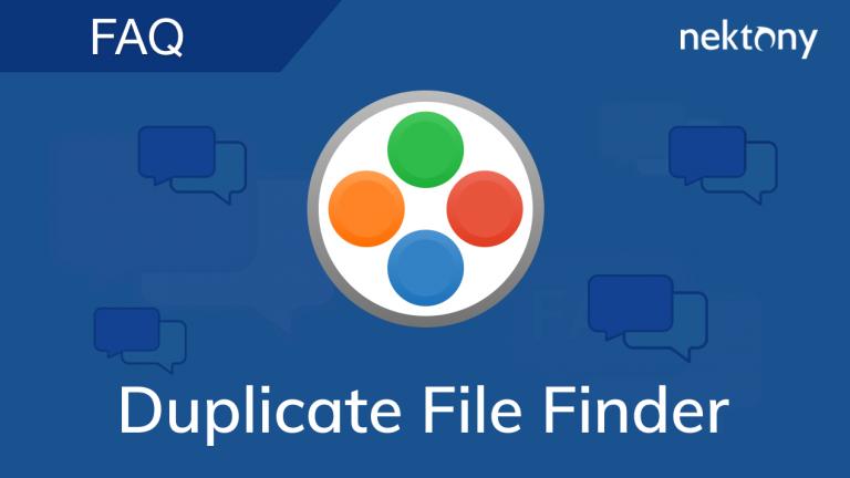 FAQ - Duplicate File Finder