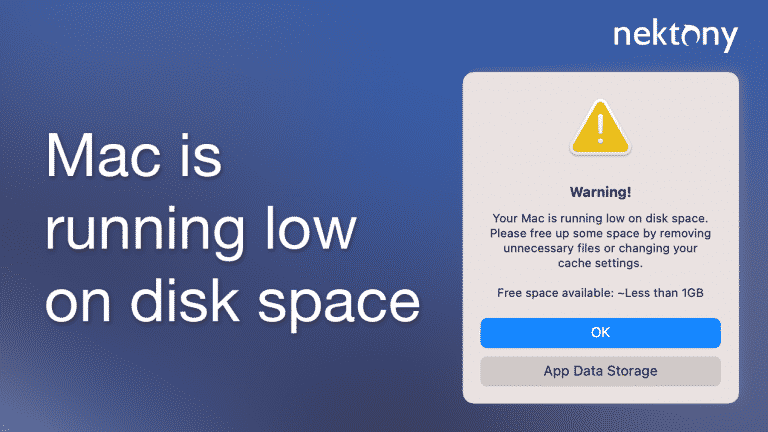 Mac is running low on disk space. How to fix it?
