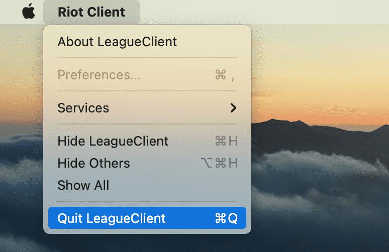 quit LeagueClient