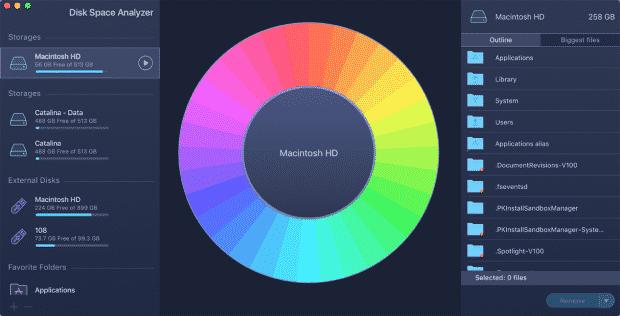 get started disk space analyzer