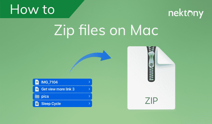 how to zip files on mac