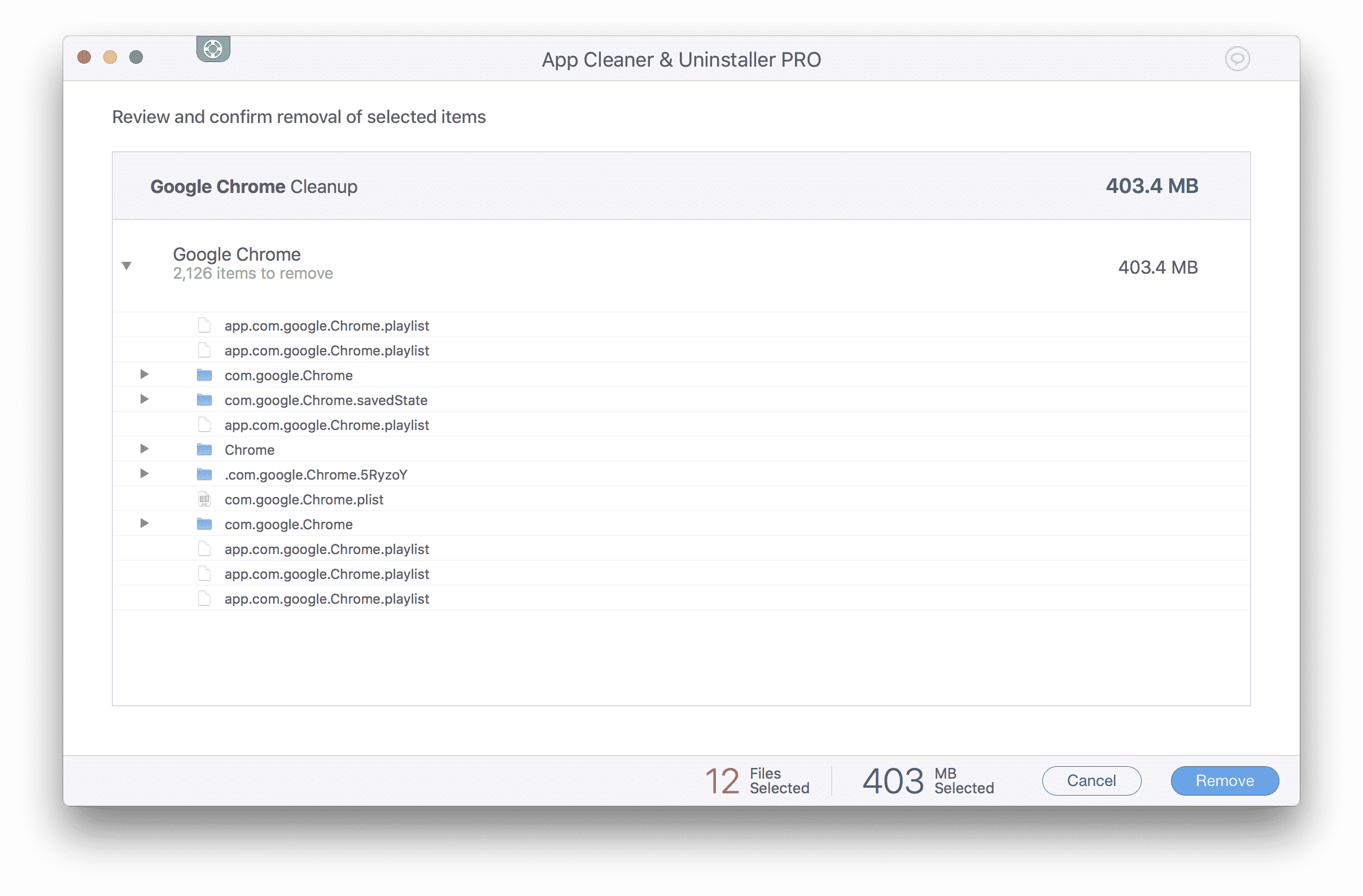 Confirmation window to clear chrome cache on Mac