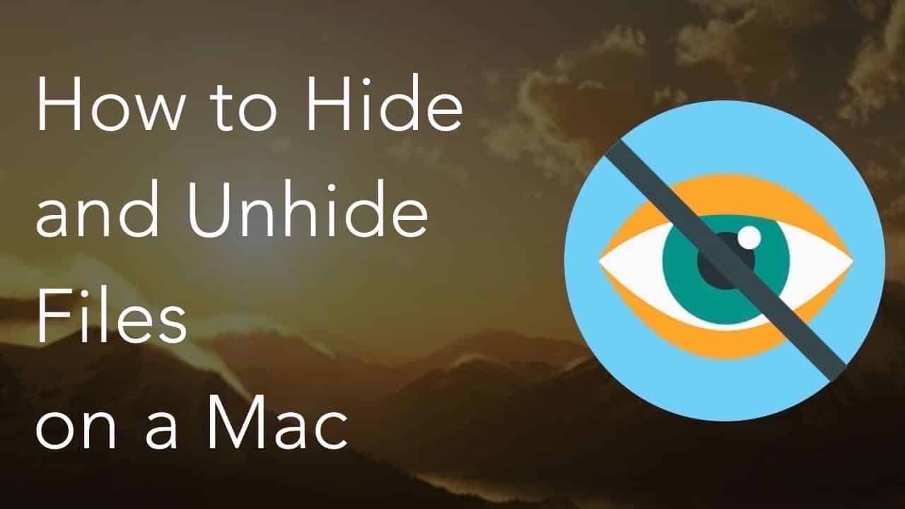 hide and unhide files