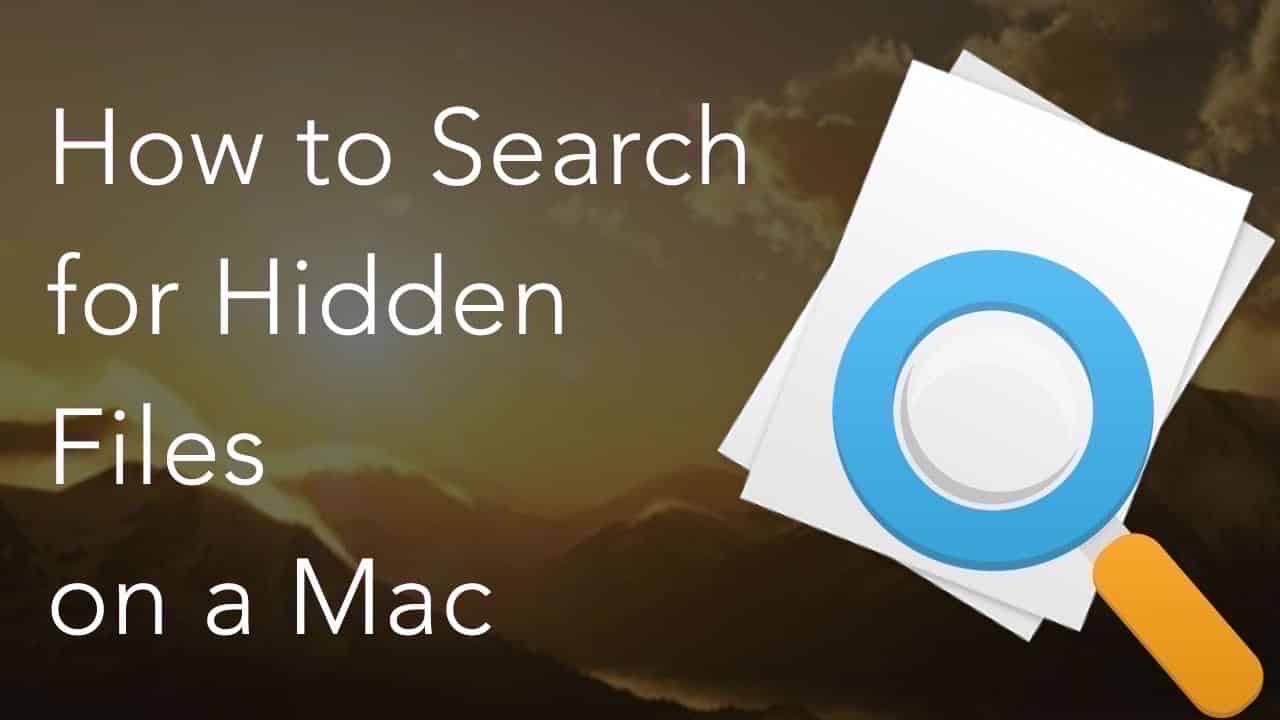 search for hidden files
