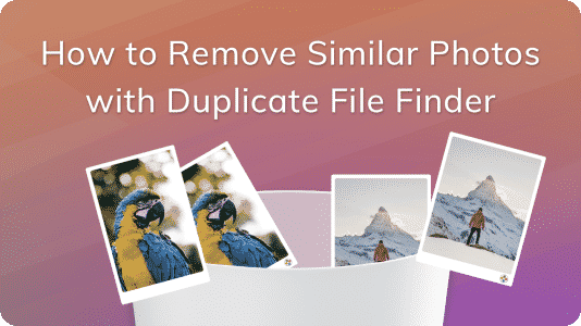 banner how to remove similar photos