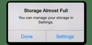 Storage Full on iDevice