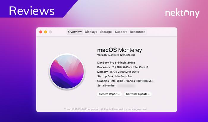 macOS Monterey - Nektony's tech review