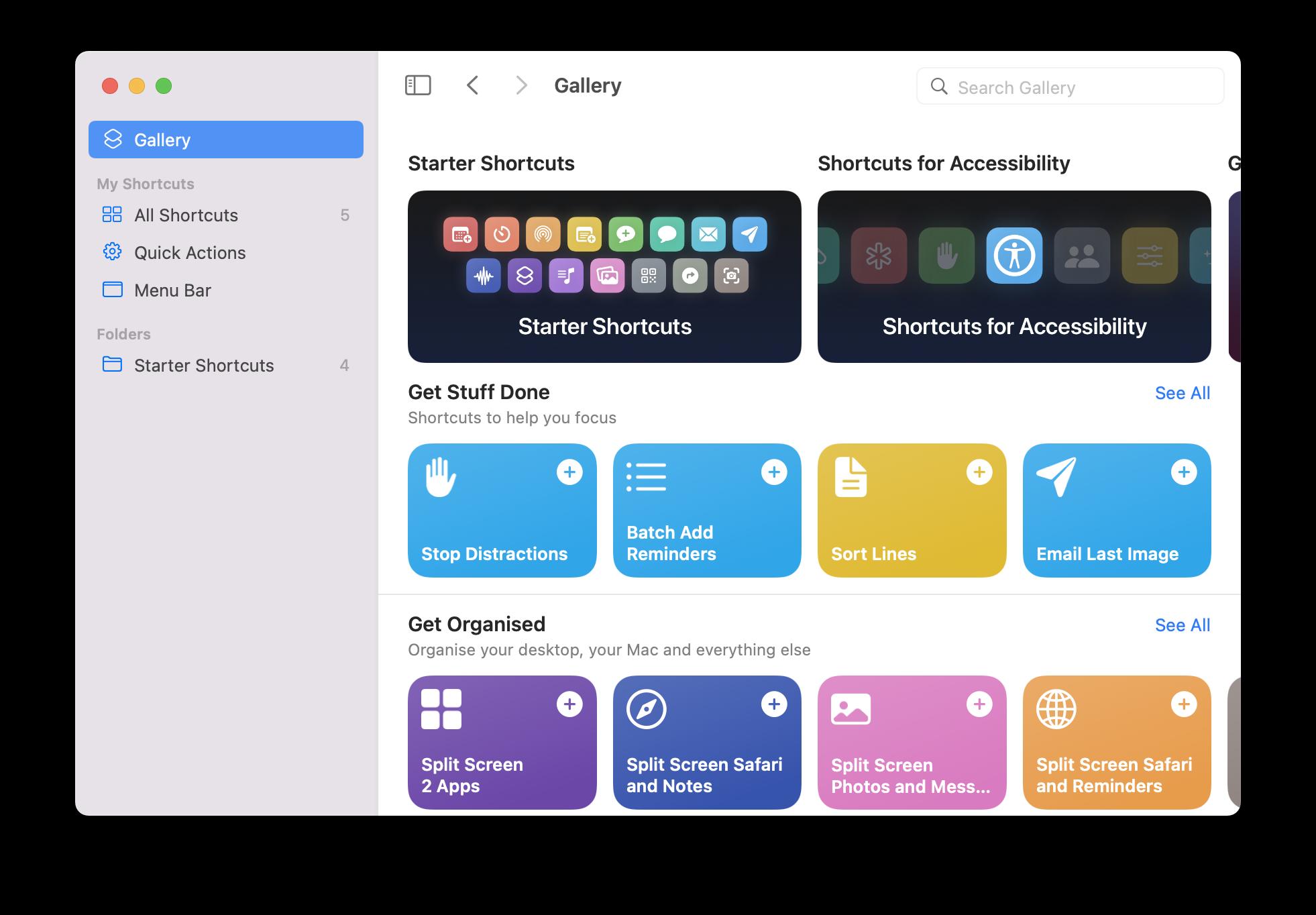 new shortcuts in macOS Monterey