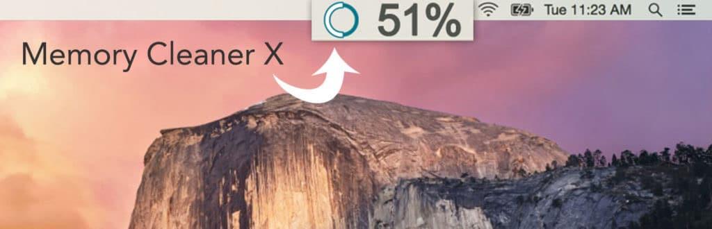 memory usage - tool bar
