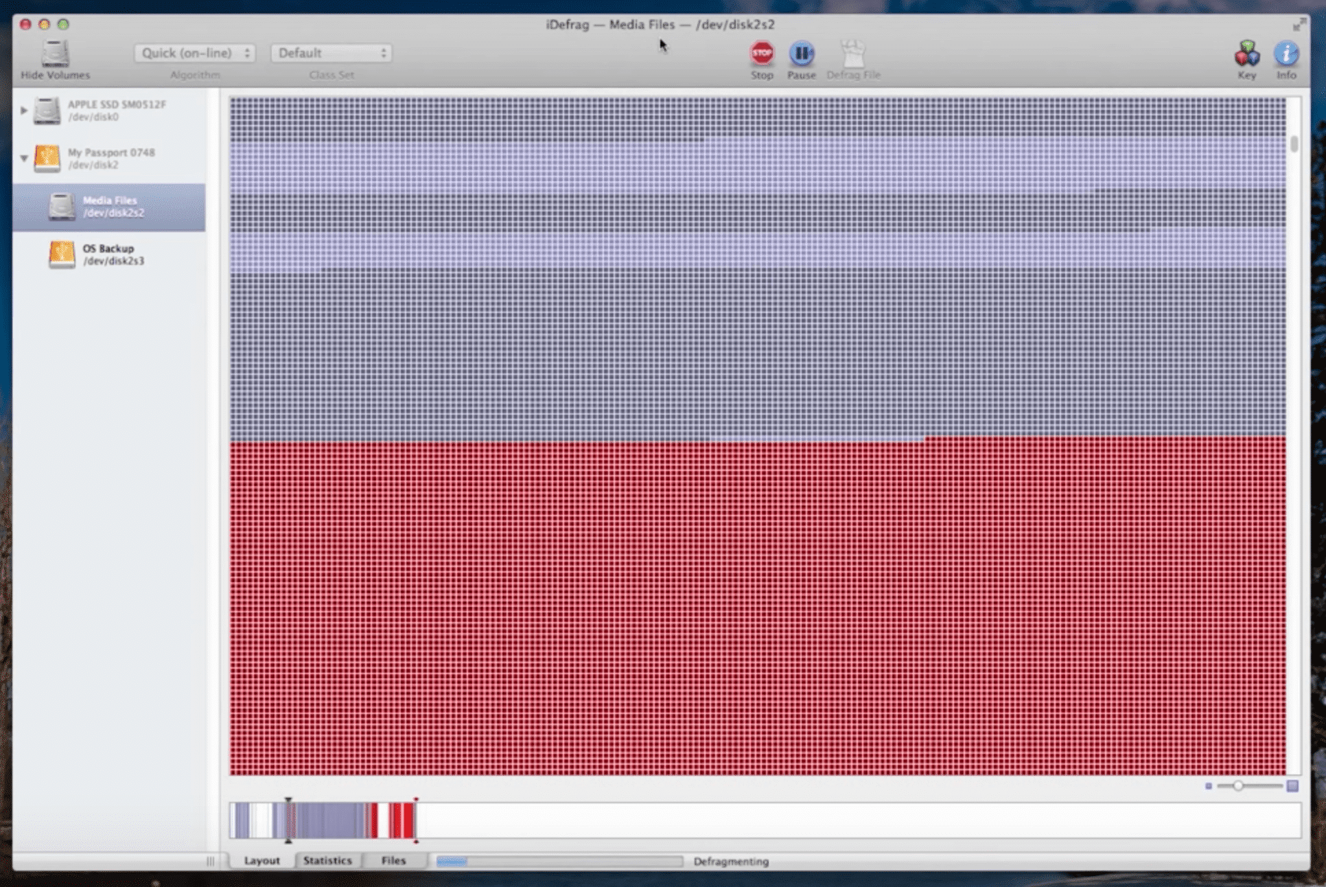 iDefrag for Mac screenshot