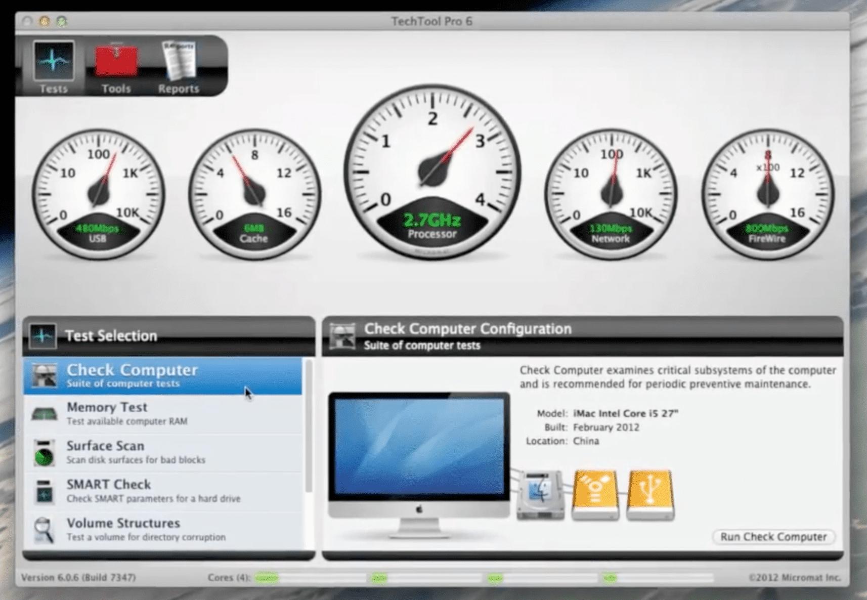 TechTool Pro screenshot