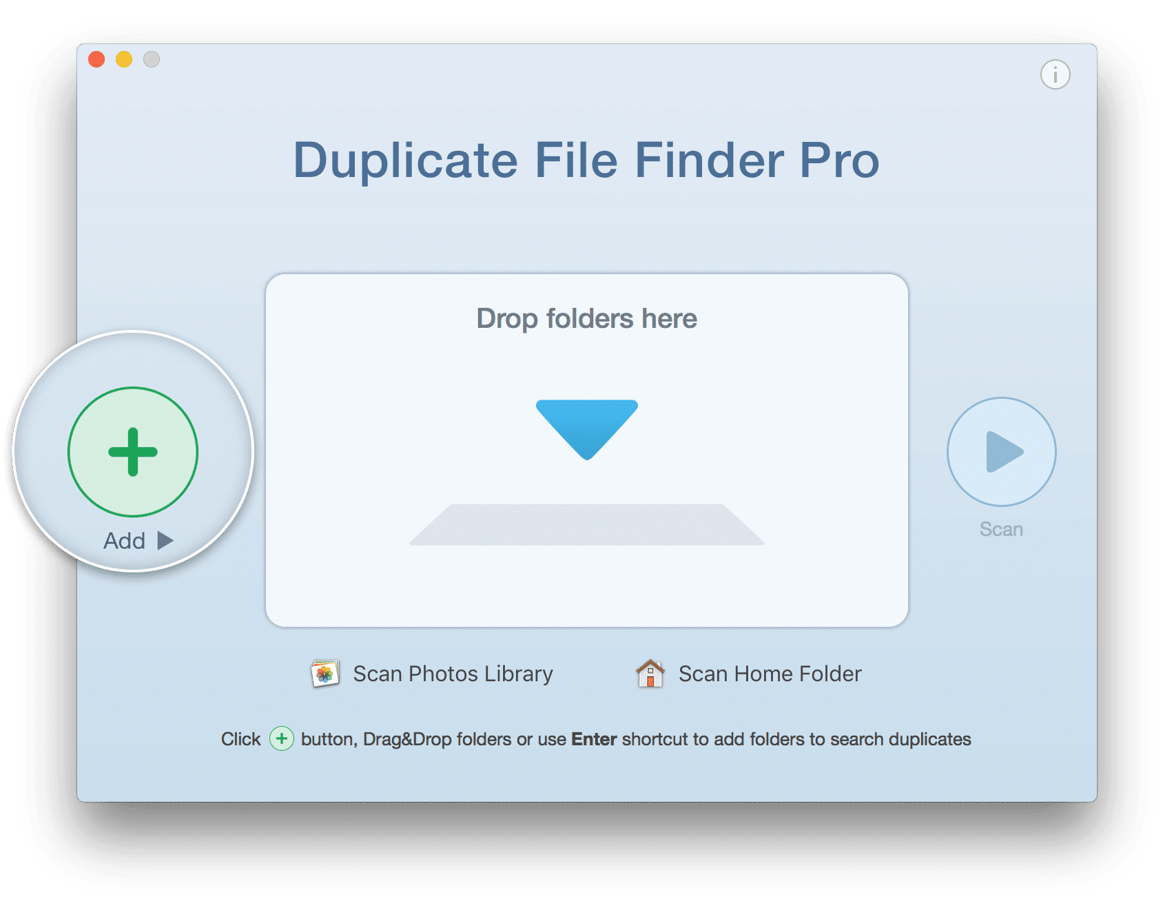 Duplicate File Finder with Add button highlighted