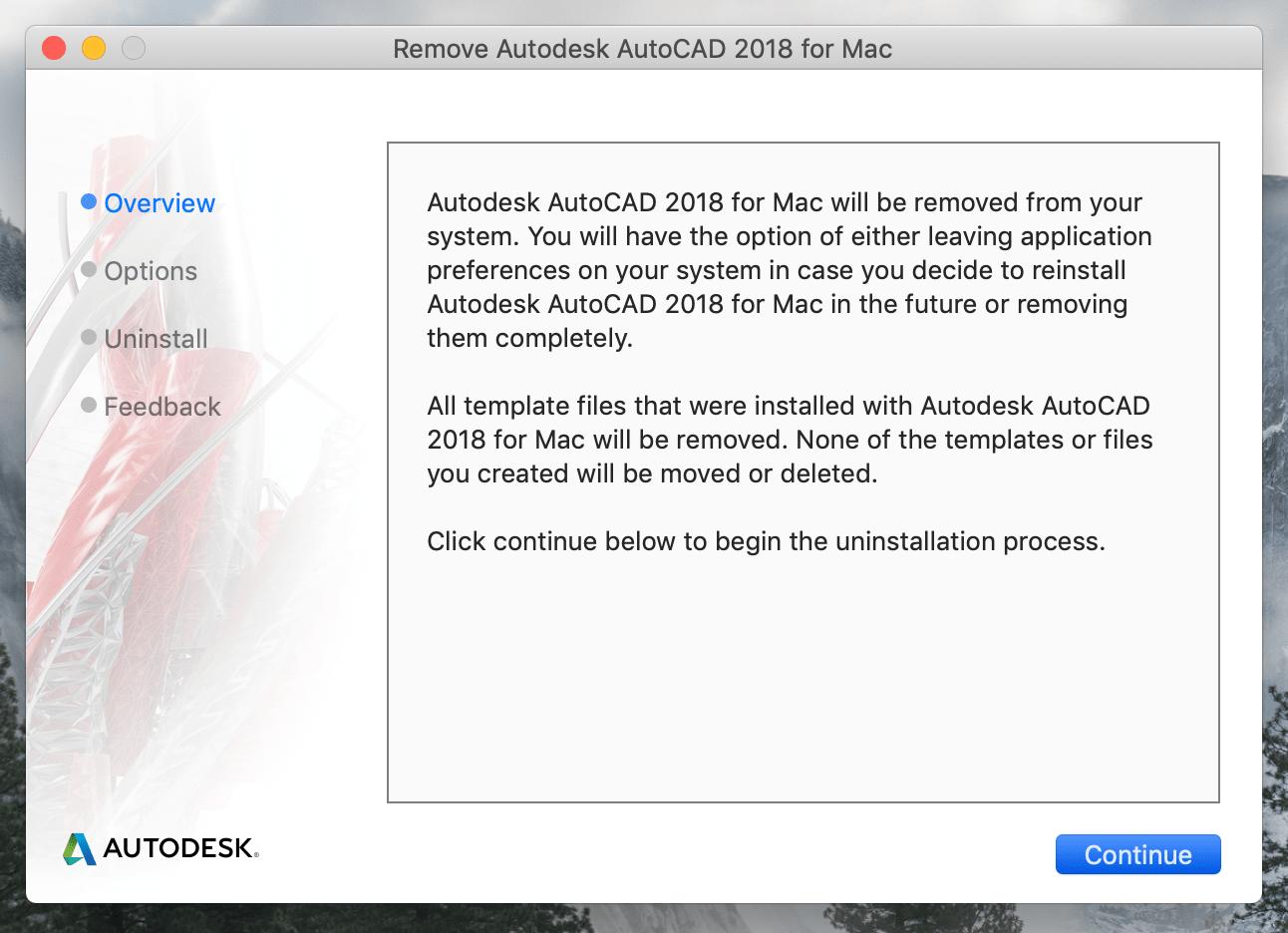 Remove Autodesk AutoCAD window