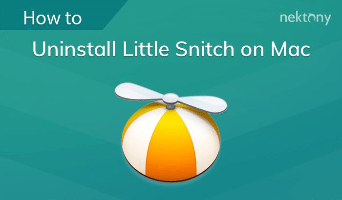 Uninstall Little Snitch on Mac